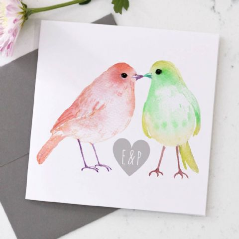 Personalised Bird Valentine's Day Card
